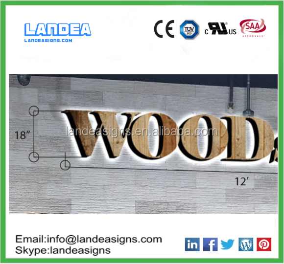 Different Styles Stainless Steel metal door sign wood Alphabet Lettering for led signs outdoor