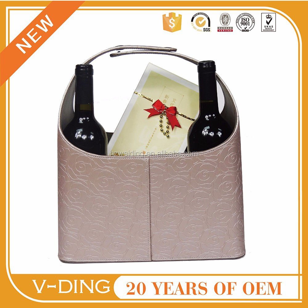 vding from China professional manufacturer high quality leather rose gold Bestsellers gift baskets empty