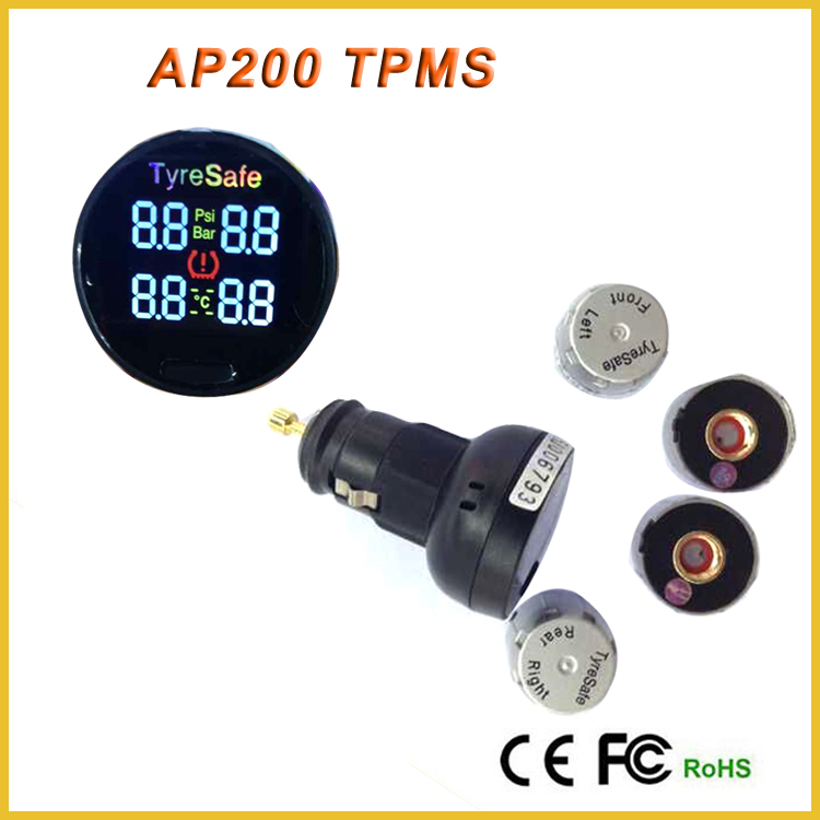 AP200 External Sensor Stand alone wireless LCD tyre pressure monitoring system, spy tpms