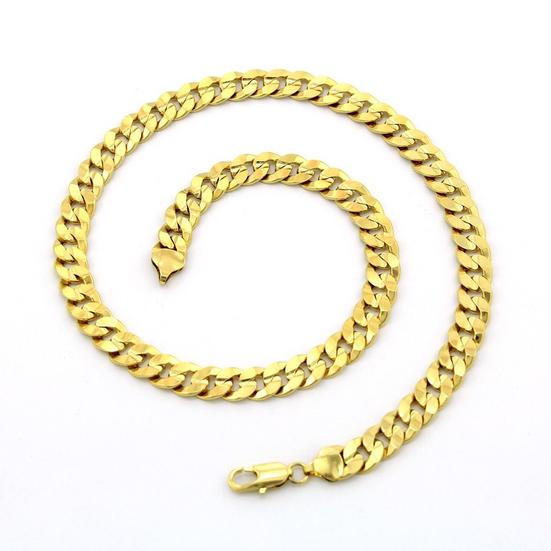 Wholesale 18K Real Gold Plated Necklace New Trendy Chunky Snake Chain Necklace