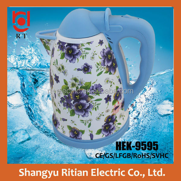 Shangyu Ritian wholesale kitchen appliances large capacity enamel cordless electrical water kettle