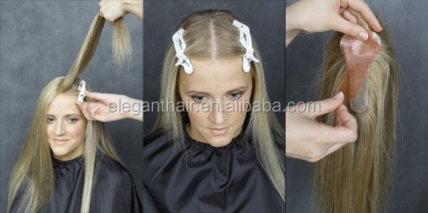 NEW!100% high quality human hair T parting hair piece on sale
