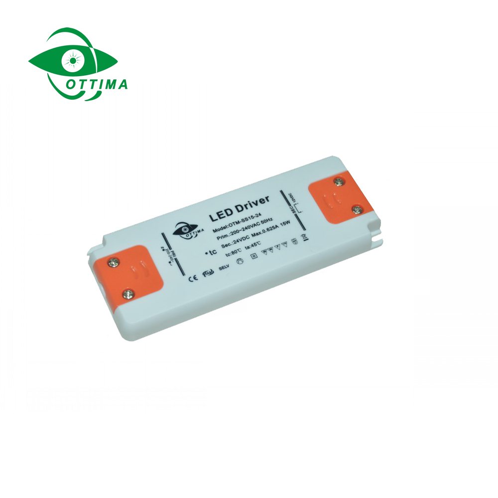 Plastic Cover IP20 slim LED Driver LED Power Supply constant voltage 6W 12v