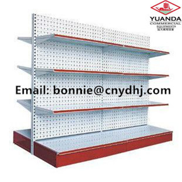 High Quality 4 Layers Double Sided Bump Hole Back Board Supermarket <strong>Shelf</strong> For Supermarket