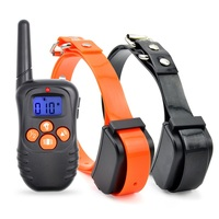 PET998N custom smart remote controlled rose gold dog training shock collar for 1 or 2 dogs