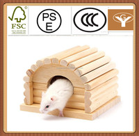 Toy wooden house seperable wood house small animal habitation for hamster