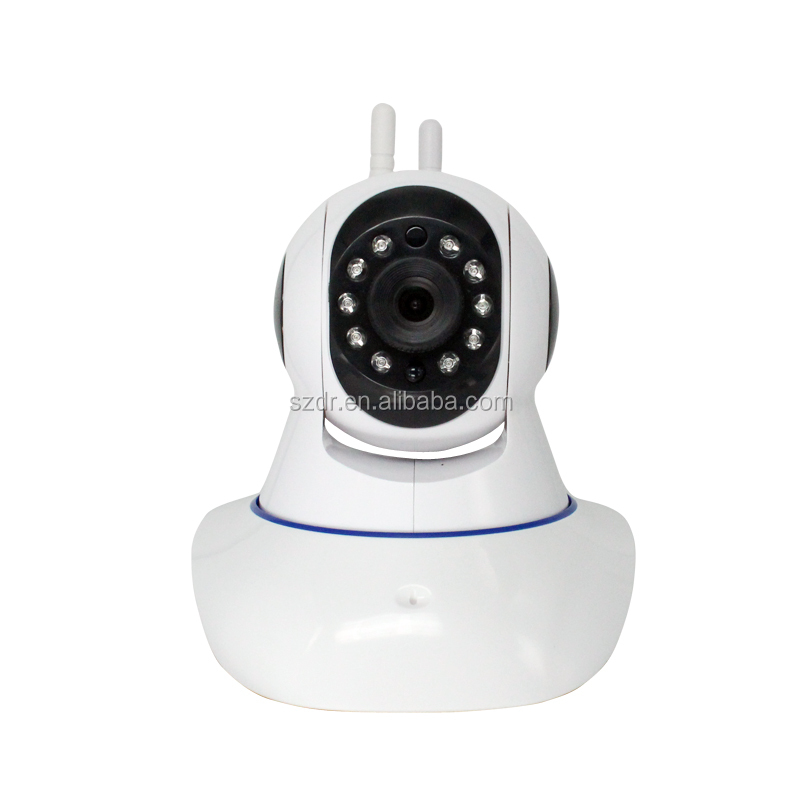 LOW COST PROMOTION P2P WIFI PTz baby hd wifi camera with sdk Alarm IR CUT and Dual Antenna