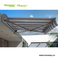 Double sided retractable aluminum window awning electric for home door