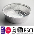 Kitchen Aluminum Foil Round Shaped Disposable Food Refrigerate Container