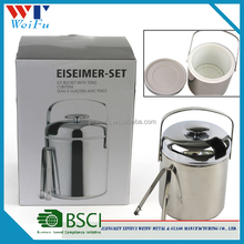 stainless steel Coolers Ice busket holders,Buckets type plastic inner ice bucket