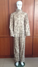 190 Tdesert camouflage military and police raincoat rainsuit