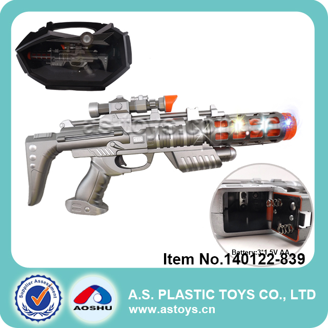 big children space plastic sniper toy gun with light