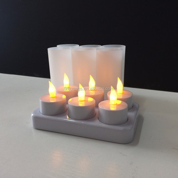remote control rechargeable flameless timer tea light set of 12 buy. Black Bedroom Furniture Sets. Home Design Ideas