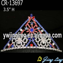 New arrived star colored rhinestone snow flower Christmas Pageant crowns