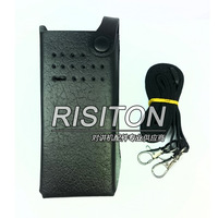 leather case MLN5839 for P8600/GP328D digital Walkie Talkie two way radio carry case