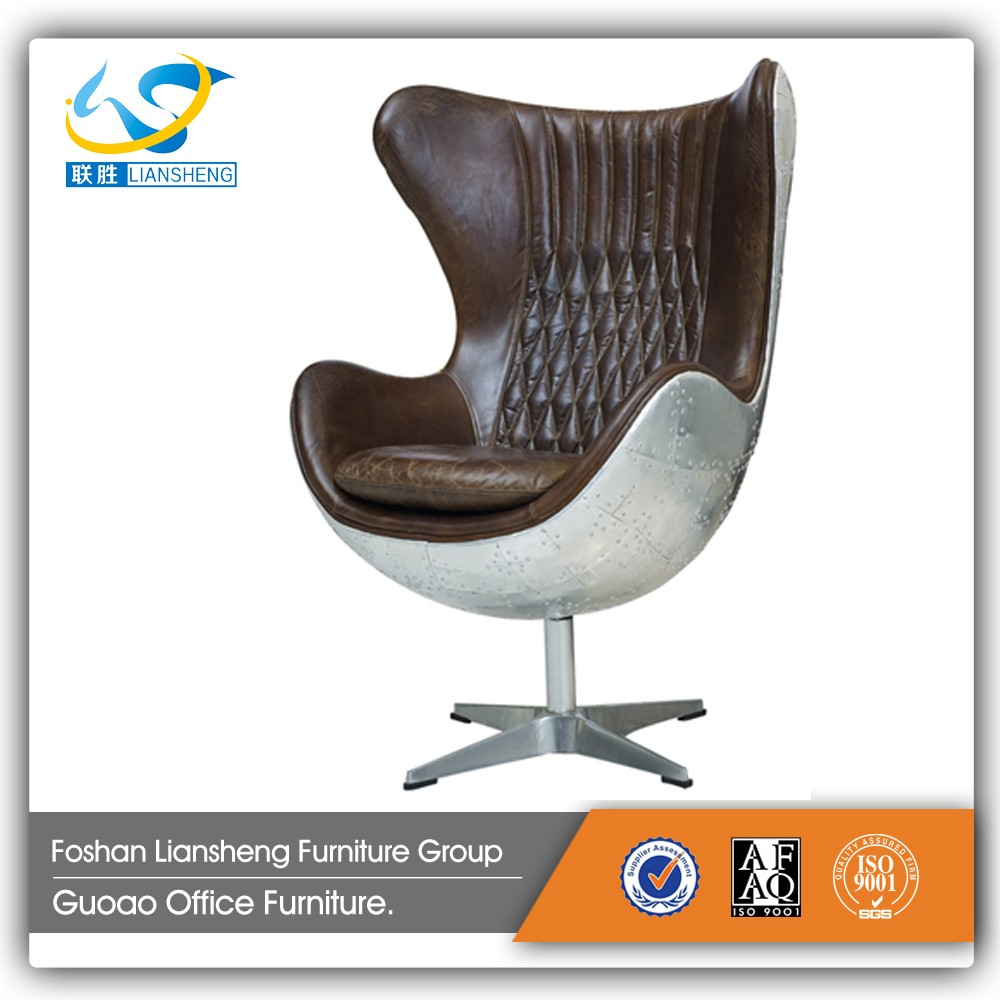 Triumph Modern egg chair replica / indoor swing egg chair / new design egg shape chair aluminum finish S4803-1