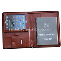 hot sell OEM production PU zipper portfolio with tablet case