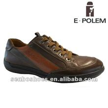 2014 men fashion casual flat leather men shoes