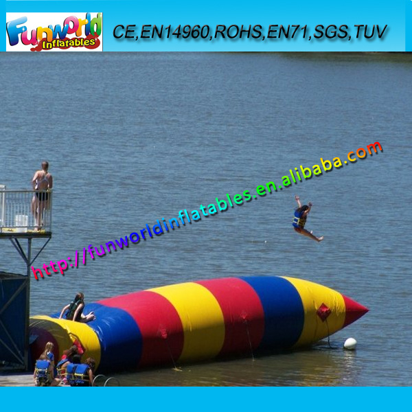 2015 Inflatable Water Blob Jump, Inflatable Water Catapult Blob for Sale FUNWB-4003