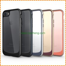 Mobile phone accessories full cover carbon fiber phone case for iphone 7, tpu pc phone case for iphone 7