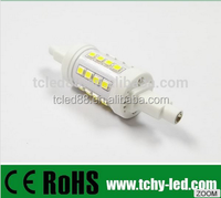 New dimmable 78mm 10w smd led r7s