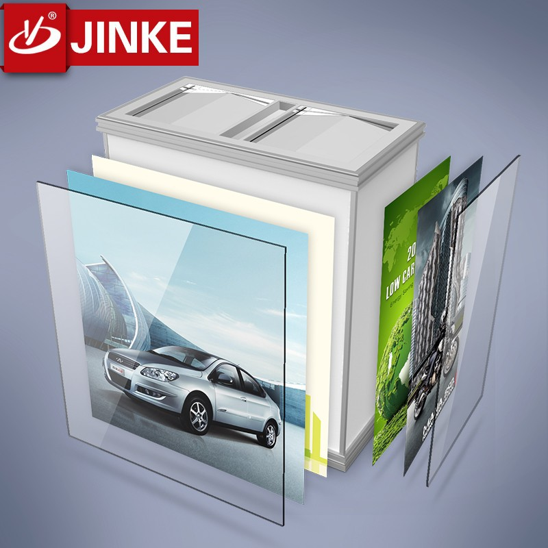 JINKE Mental And Plastic Dustbin Brand Supplied New Outdoor Recycle Trash Bin
