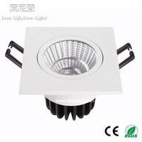 7W Led COB Square Recessed downlight,cool white