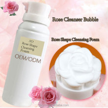 OEM/ODM Moisturizing Mild Soothing 3D Rose Shape Facial Foam Cleanser