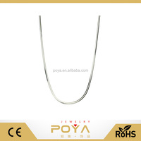 POYA Jewelry 8-Sided Diamond Cut Snake Sterling Silver Nickel Free Chain Necklace Italy