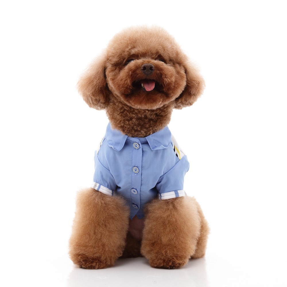 High Quality wholesale Funny for pets daily wear Ribbed Short Sleeve Cropped taiwan SMALL Pet clothes