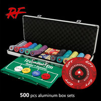 500pc 14g Clay Composite Casino Poker Chip Set