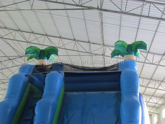 inflatable Coconut tree with pool slide,palying center equipment-slide