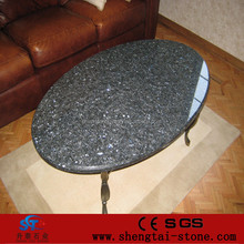 cheap round stone oval granite top dining table