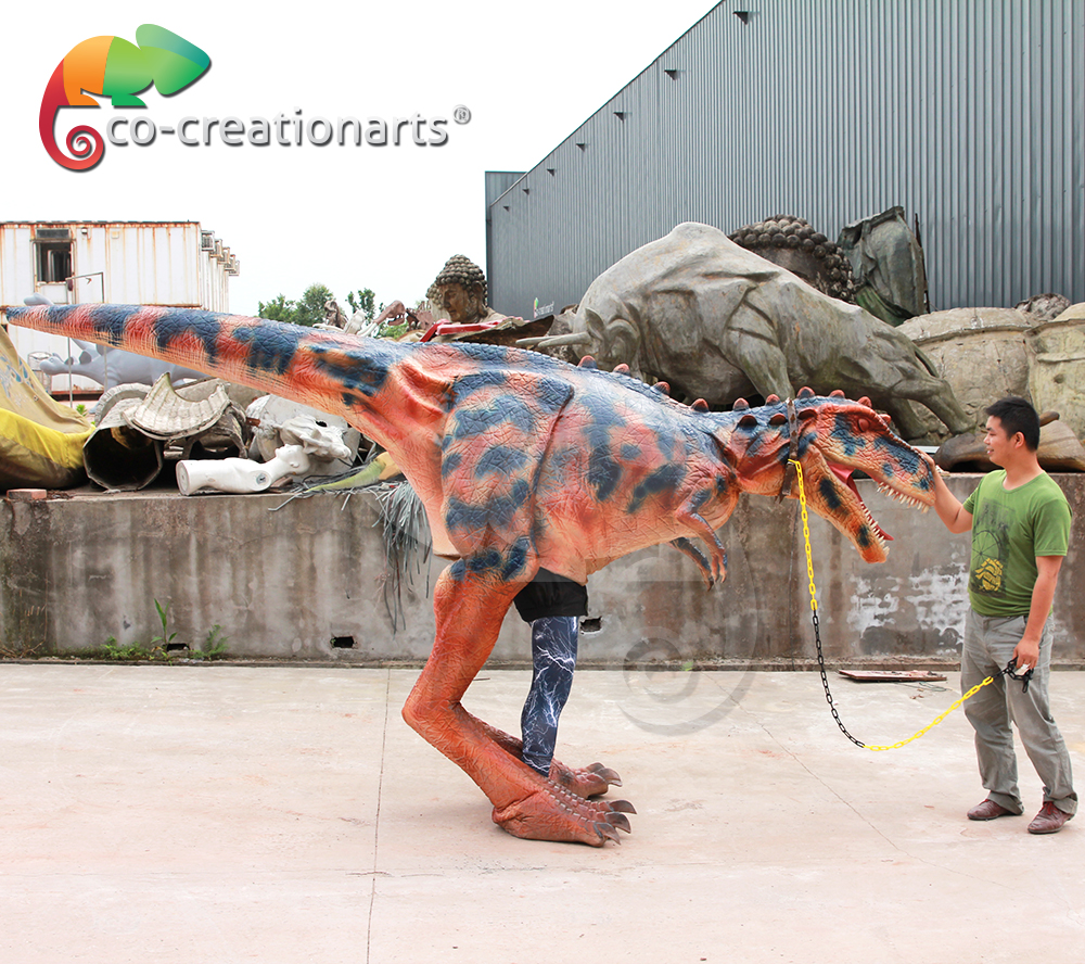 High simulation animatronic dinosaur puppet for show