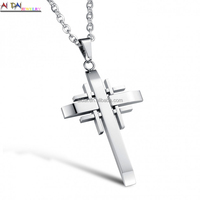 High quality custom 316 stainless steel religious jesus cross pendant for men/woman Necklace