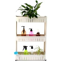 bathroom diy plastic pp storage shelves