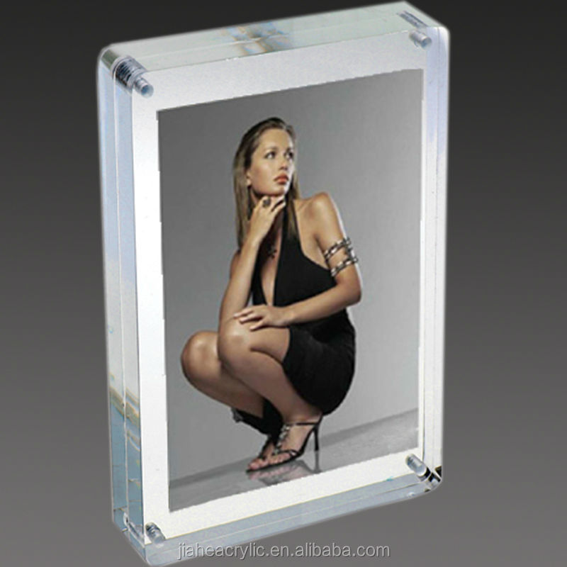 hot sexy girl picture and clear acrylic pictures frame with magnet