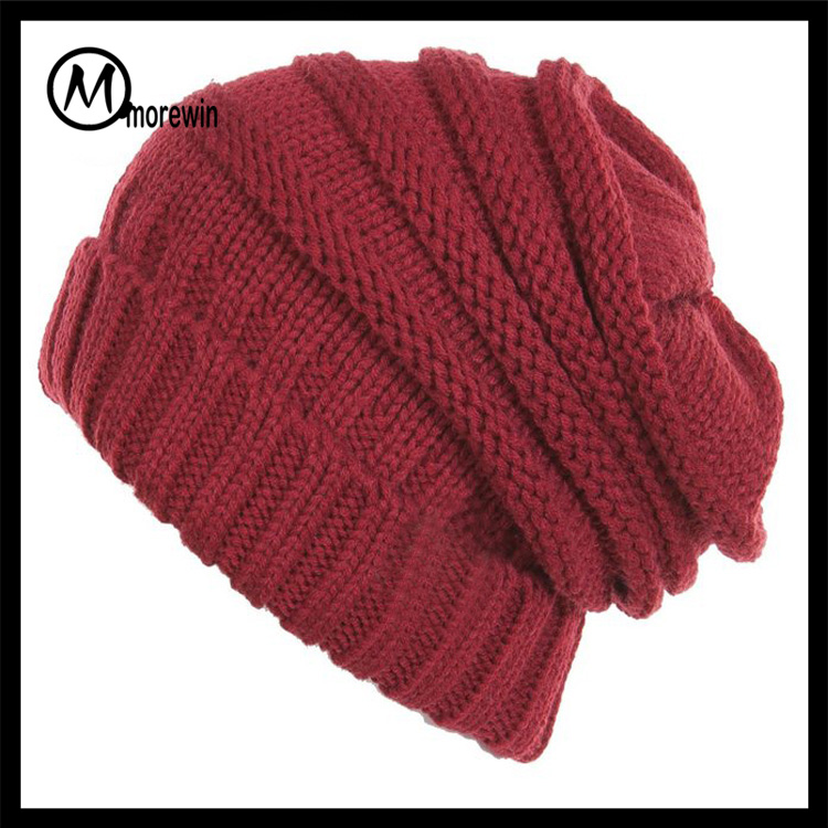 2017 Morewin Men Women Beanie Top Quality Solid Color Hip-hop Slouch Unisex Knitted Cap