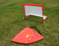 Fiber glass pole square training soccer goal foldable football door