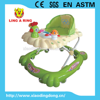 baby walker with beautiful music and light and cute chicken and mushroom toys
