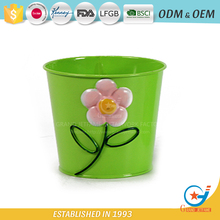 Garden galvanized or iron flower tubs and pots decorative potted plants