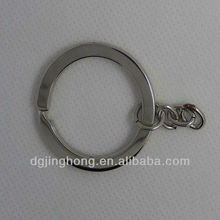 shining metal keyring with chain/pratical keyring with chain
