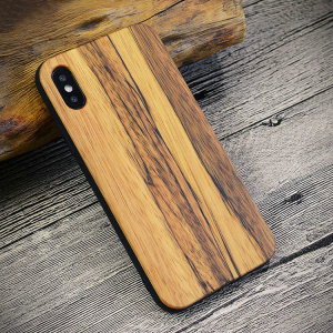 Dropshipping For iPhone X Element Series Wood Texture Soft Protective Back Cover Case