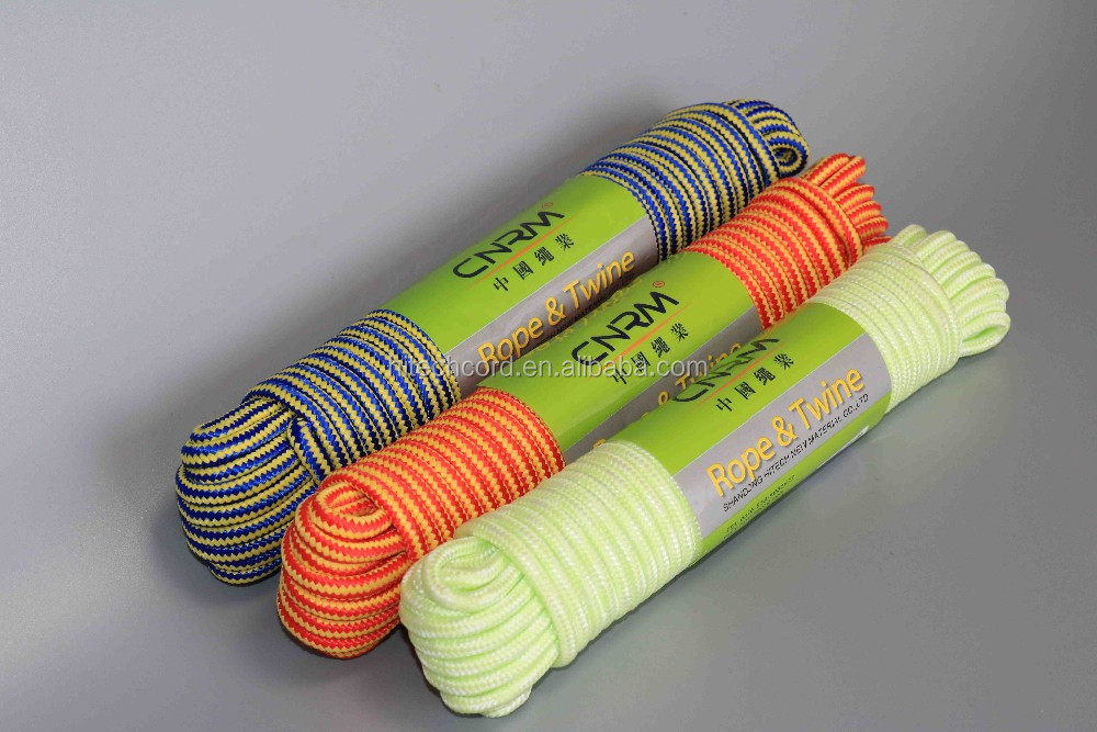 Orange Green color  5 mm 6 mm 8 mm 8 strands  16 strands Polypropylene braided rope thread building line
