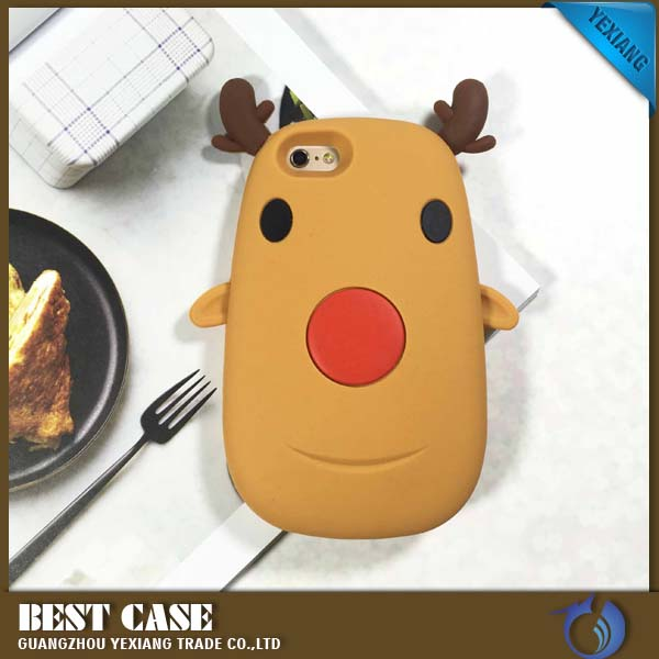 Milu Deer Design 3d Silicone Case For Iphone 6 Mobile Phone Cover