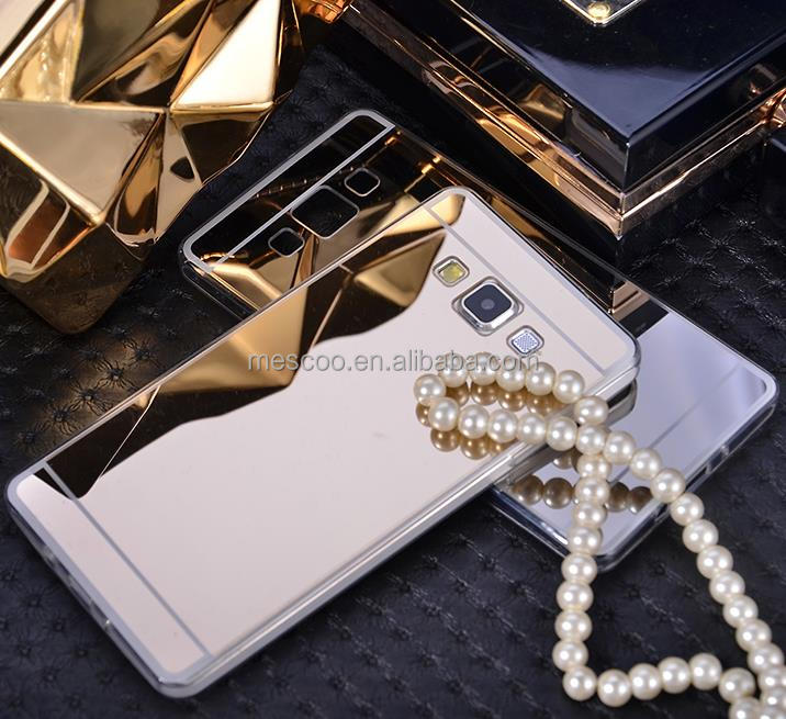 Luxury Rose Gold Fashion classical design Mirror Case Soft Back Cover For Samsung Galaxy A5 / A7 / S3 S4 S5 S6