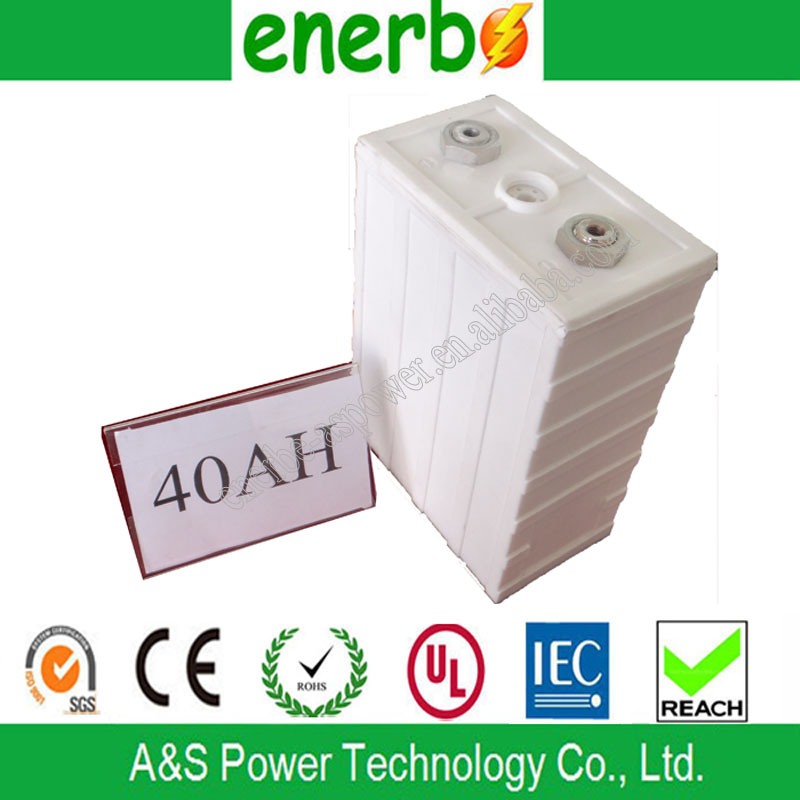 High Rate 3.2V 40Ah LiFePO4 Battery Cell Rechargeable Car Batteries 200A Discharge Current