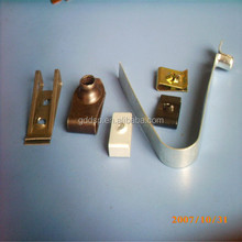 small high precision CNC machined brass hardware parts/brass fitting for furniture corner/handbag