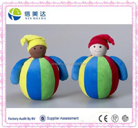Clown Roly Poly plush doll funny toy for baby