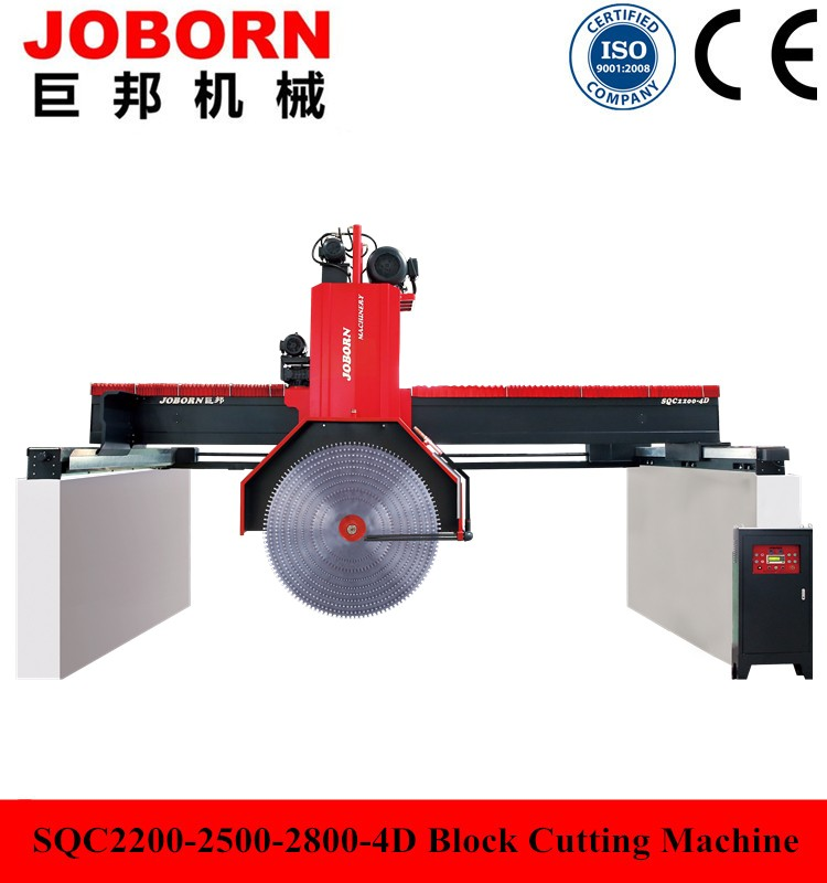 Joborn SQC2500-4D China multi blades natural block stone cutting machine for marble and granite